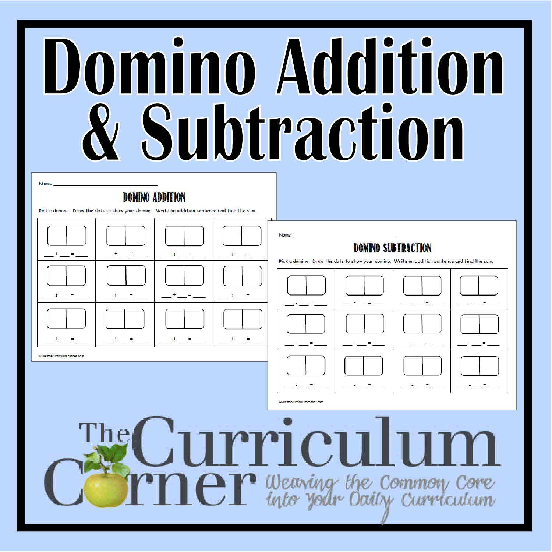 Domino Math Center Math Addition Addition And Subtraction Subtraction Blank domino addition worksheet