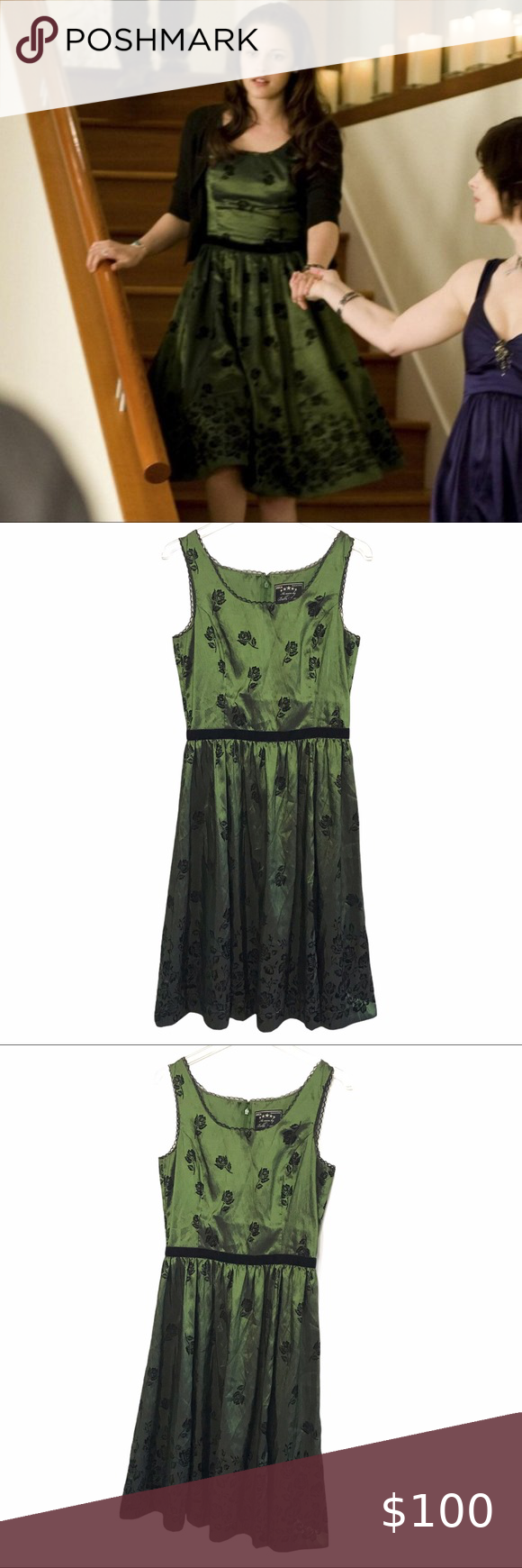 Bella Swan Twilight Saga New Moon Green Dress Neca Green Dress Dresses New Moon [ 1740 x 580 Pixel ]