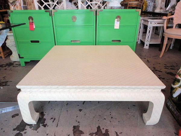 Vintage Wrapped Ming Style Baker Coffee Table 39 x 39 Apartment