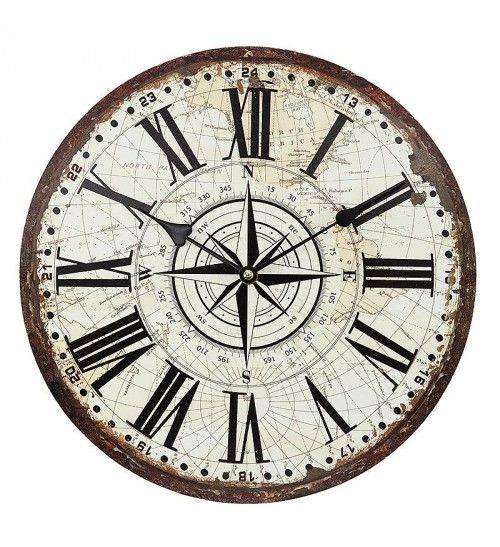 Mdf Wall Clock In Beige Brown Color D 34 4 Clock Drawings