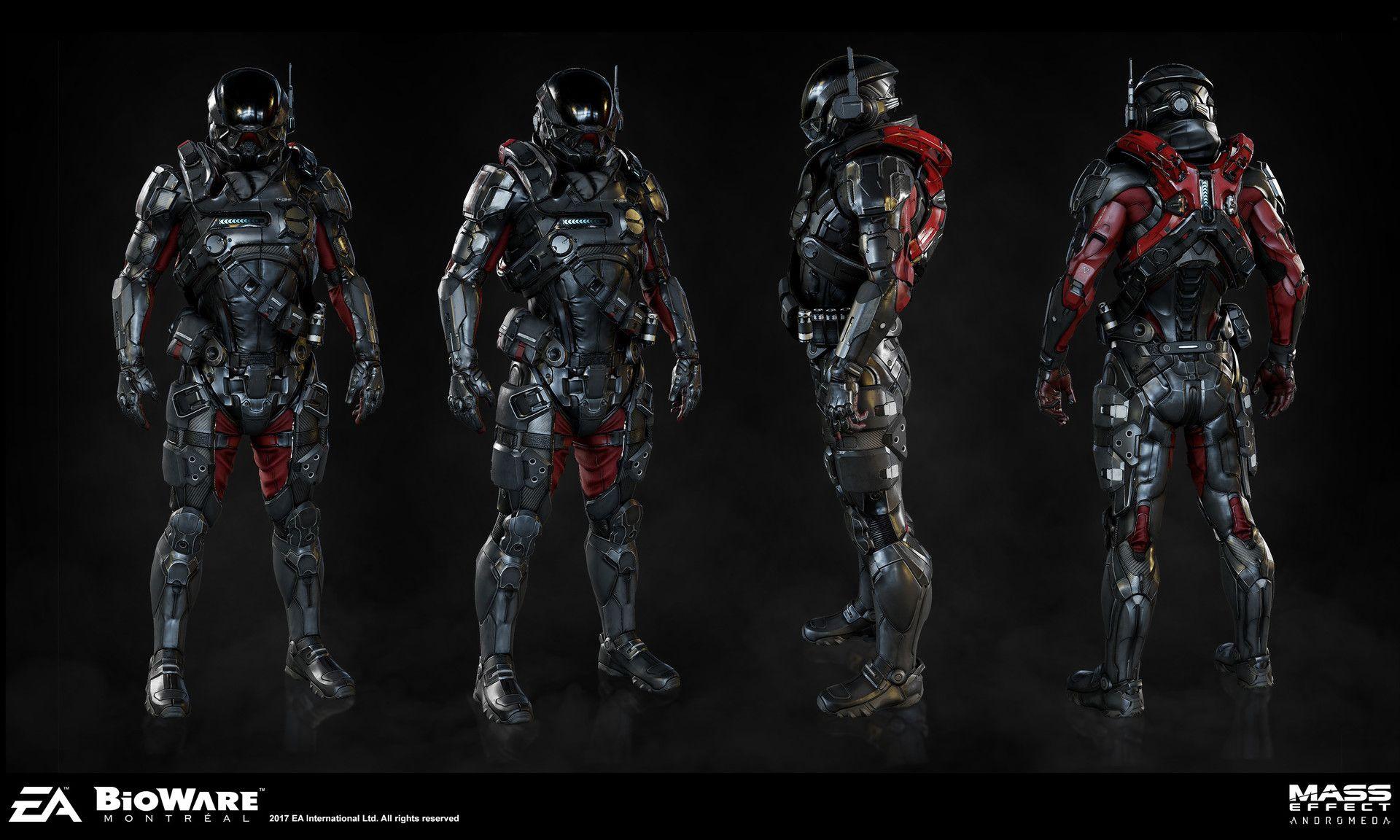 pathfinder armor set for mea art director joel macmillan concept