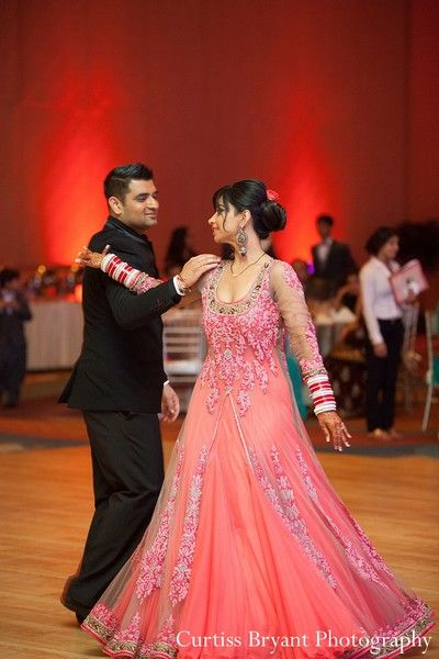 This Bride And Groom Celebrate At Their Indian Wedding Reception