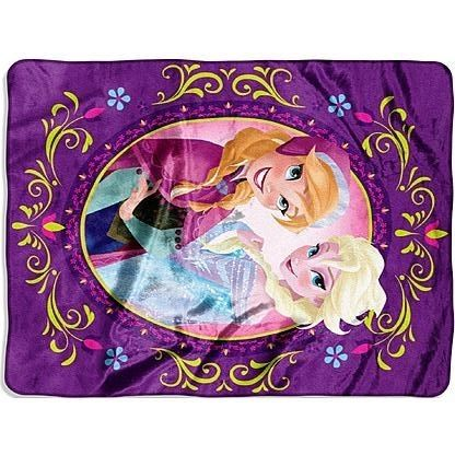 Give the Frozen fan in your home this Frozen Silk Touch Nordic Love Throw. Made from warm, snugly polyester, this adorable blanket keeps your child warm as they watch their favorite movie, read a book, or settle down for the night. Featuring an image the indomitable sisters Anna and Elsa against a purple floral background, this throw is sure to delight and enchant.