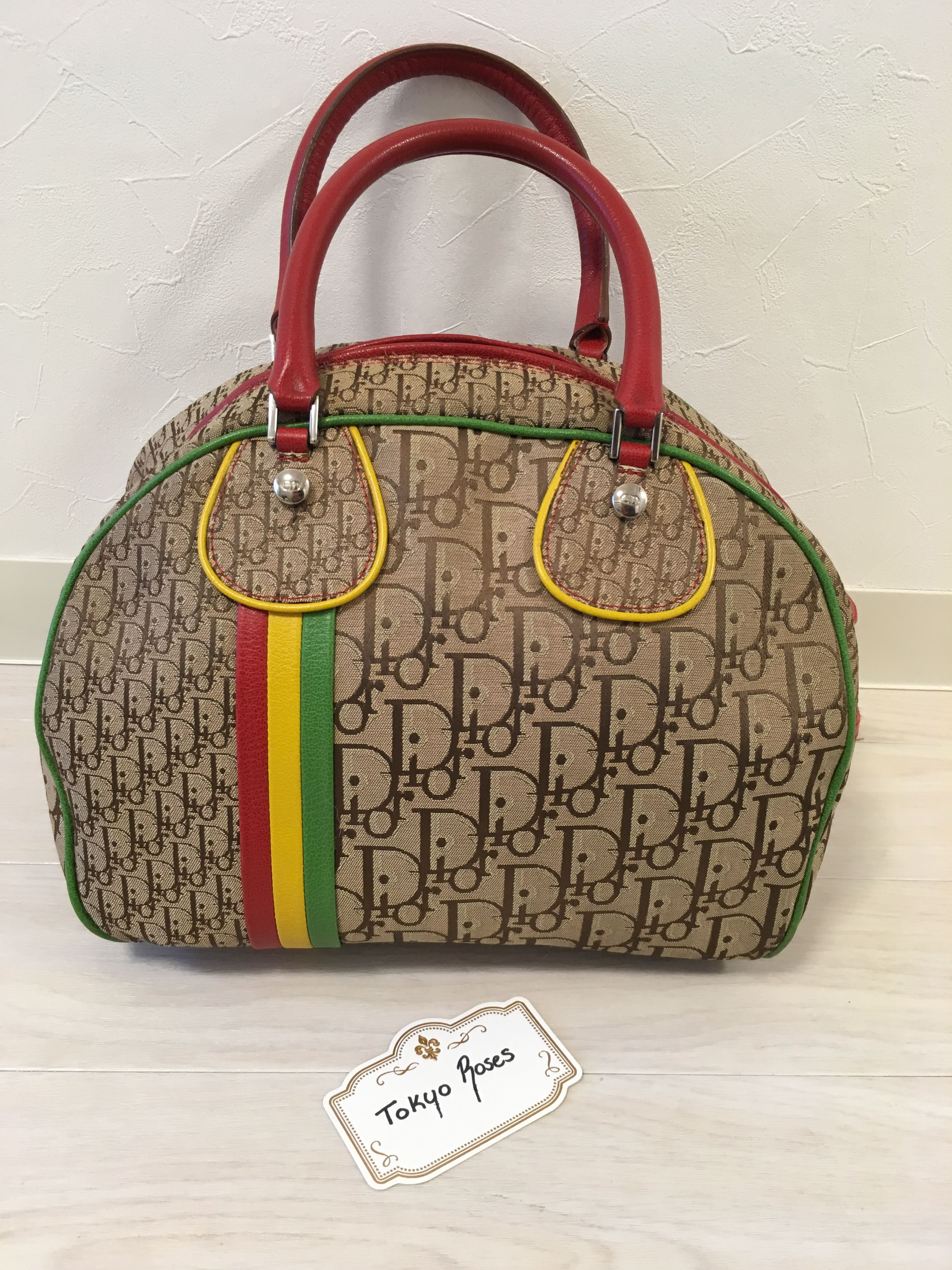 10c0b508b8ee3b Christian Dior Trotter Rasta Collection Boston Purse | Handbags in ...