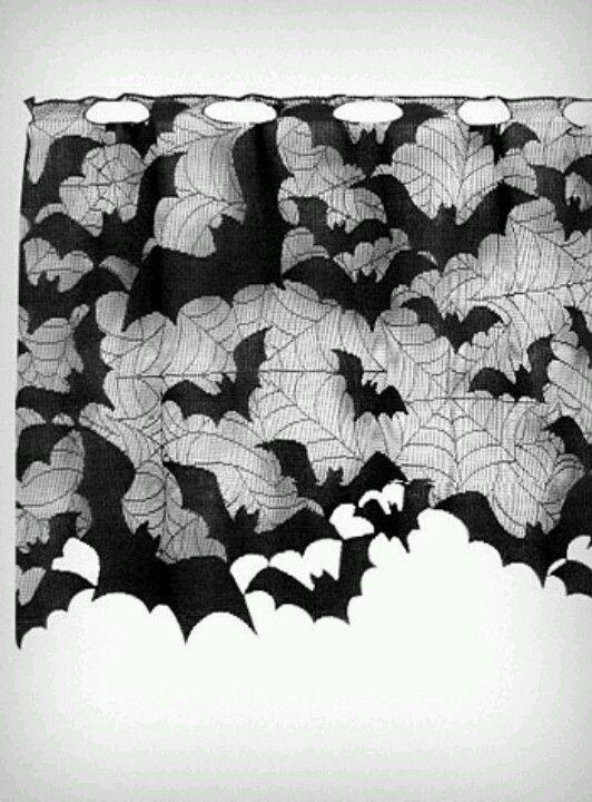 Vleermuis gordijn eventueel uitnodiging op vleermuis bat bat bat halloween dekoration - Gothic einrichtungsideen ...