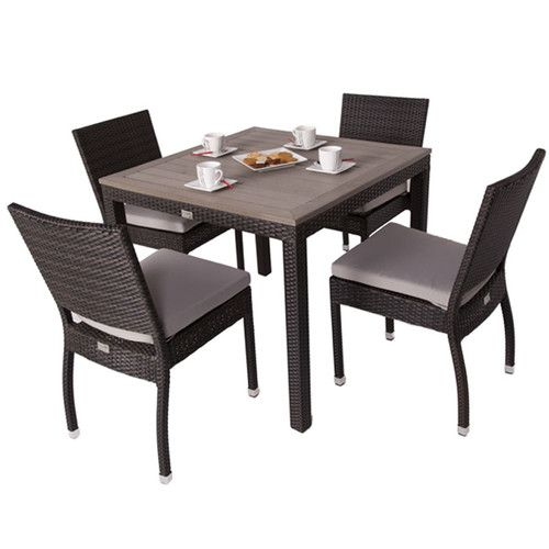 Andreas 4 Seater Dining Set with Cushions Dining and Outdoor products