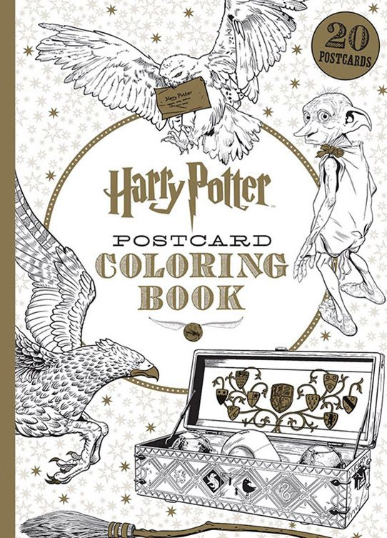 Harry Potter POSTCARD Coloring Book is coming soon to our Ben ...
