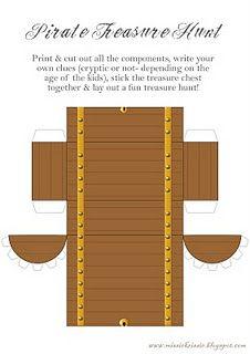 Pirate treasure chest printable