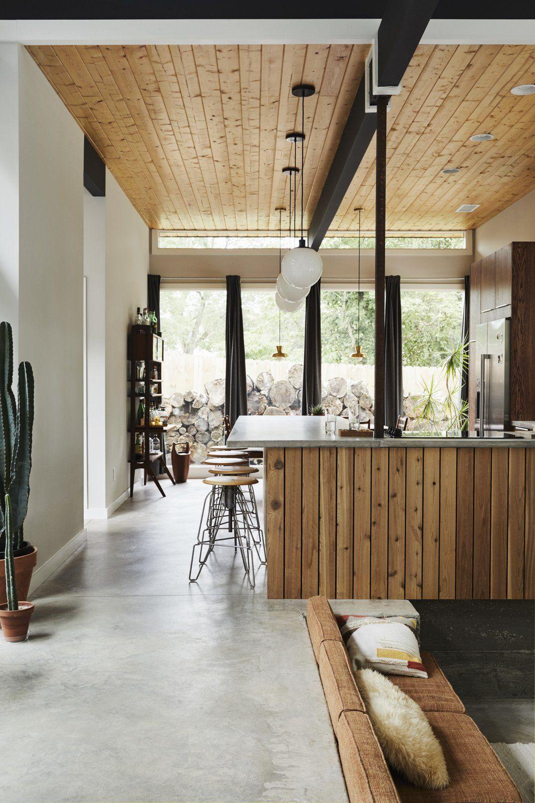 A Self Taught Designer Builds A Midcentury Inspired Home On A Budget Sunken Living Room Home Kitchen Inspiration Modern