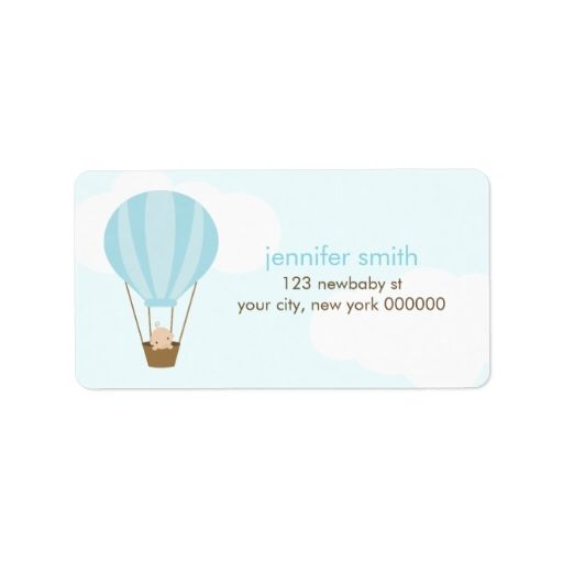 Baby in a Balloon Personalized Address Label