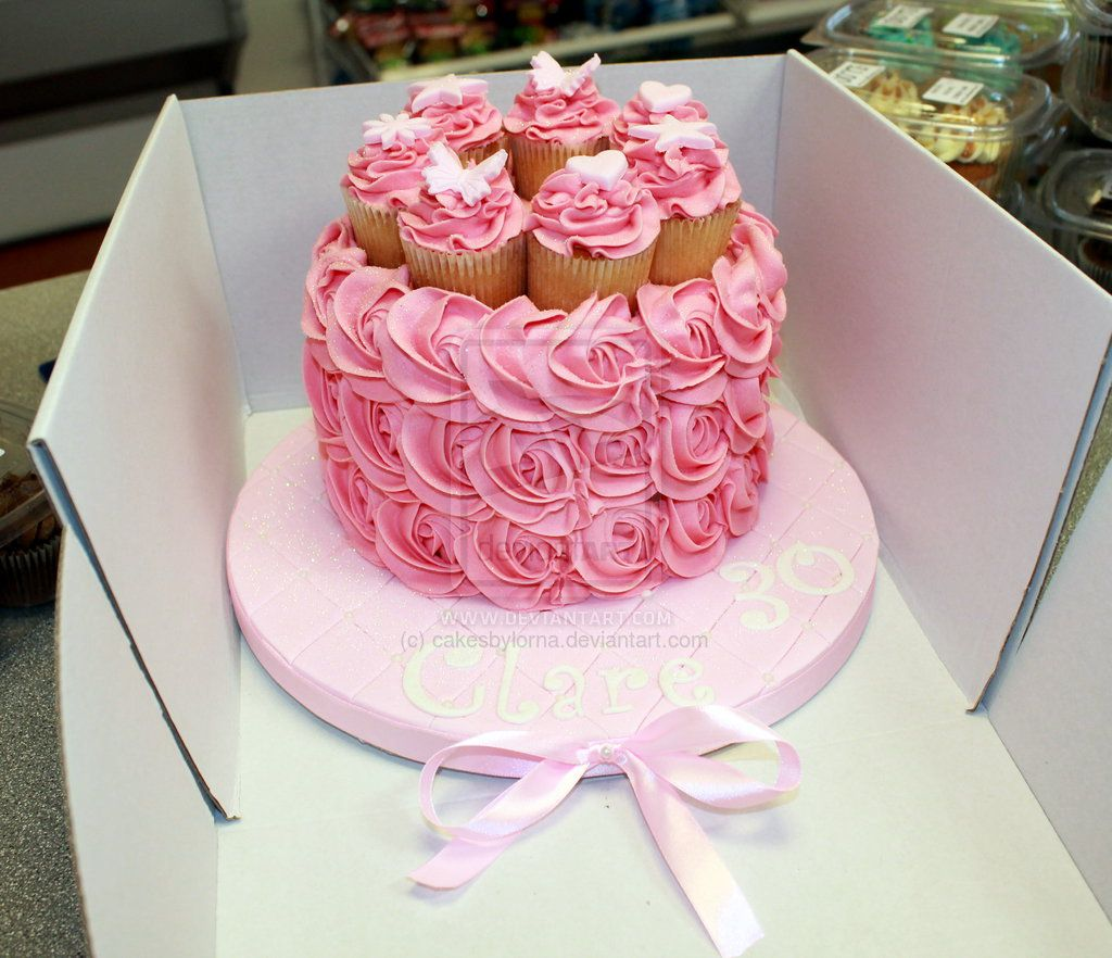Pink Buttercream Roses Birthday Cake by cakesbylorna ...