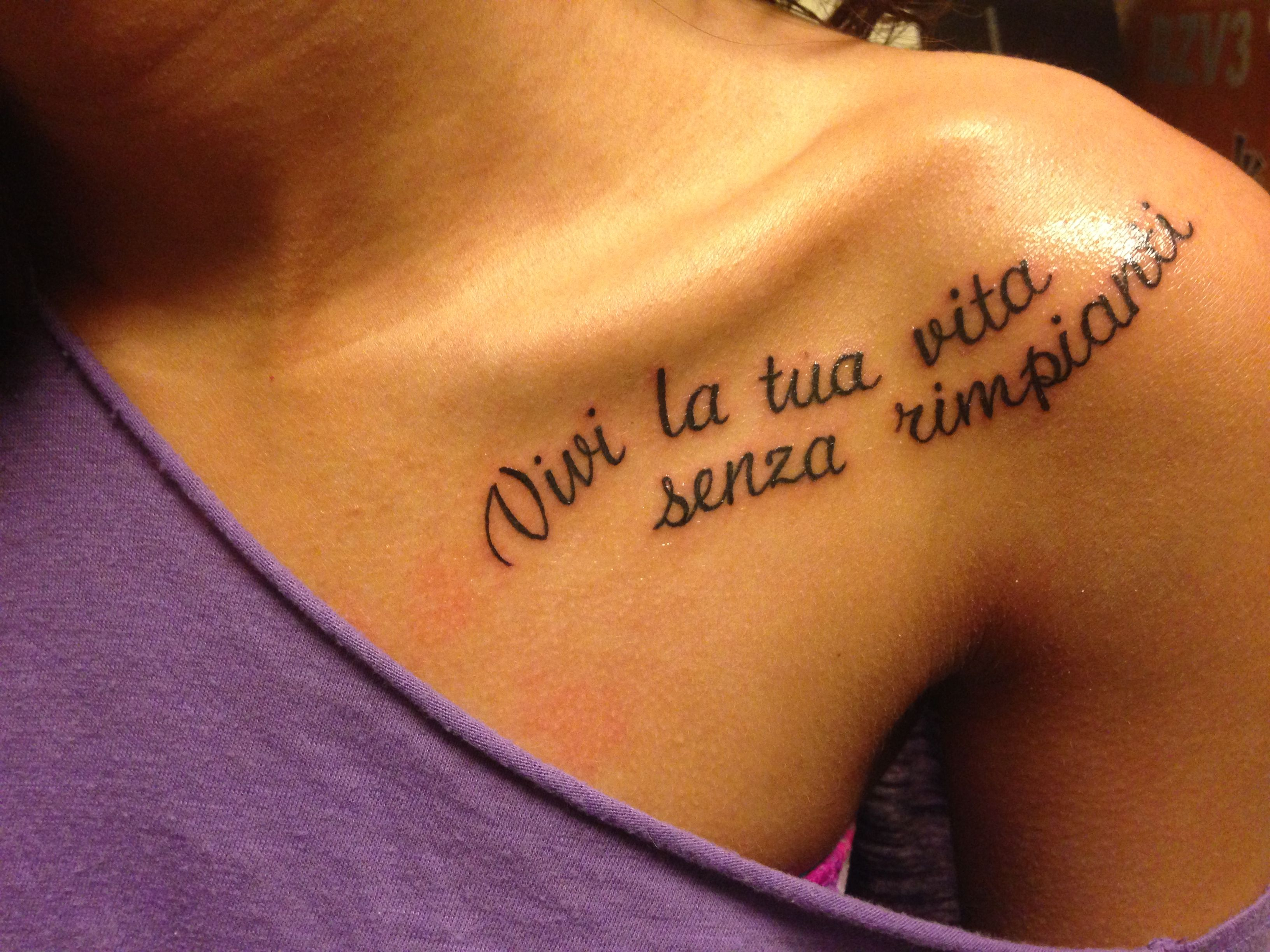 Live your life without regrets tattoo   Pretty Things   Tattoos, No ...