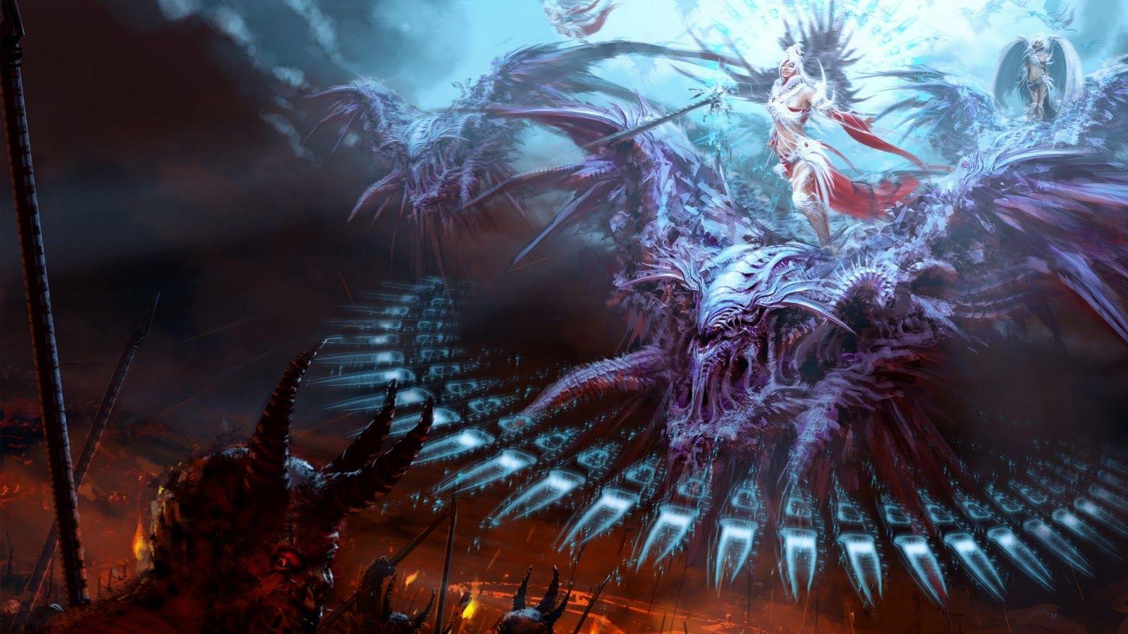 Vs Demons Amazing 3d Art Hd Wallpapers Epic Desktop