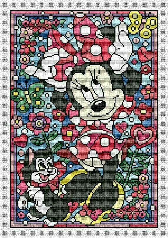 Minnie Mouse c2c | C2C Graphgan | Pinterest | Stickmotive, Mosaik ...