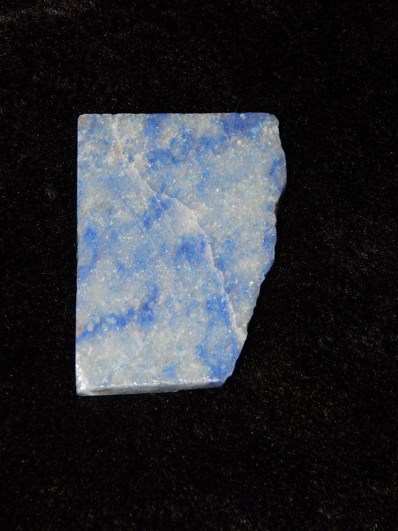 Genuine BLUE QUARTZ Lapidary Slab  Genuine Rough by esoTERRAca