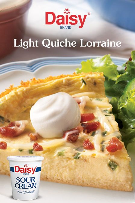 Light Quiche Lorraine Recipe Sour Cream Recipes Quiche Quiche Lorraine