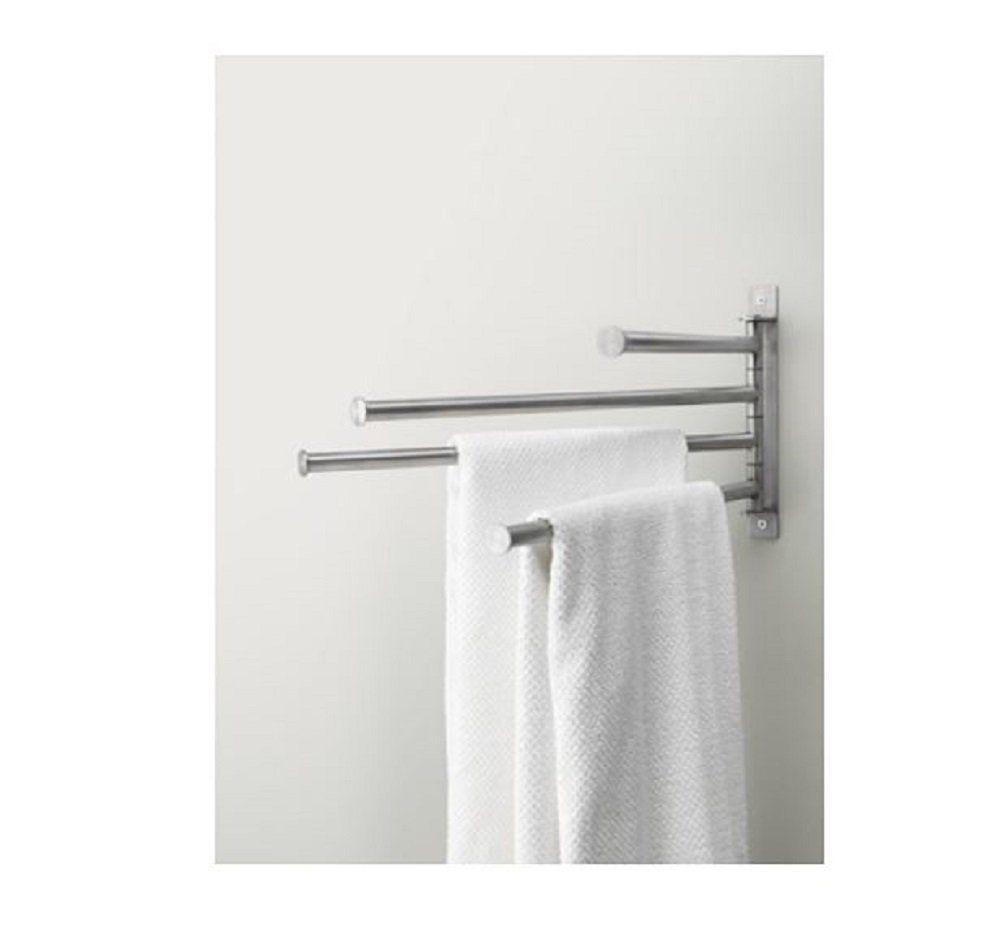 ikea grundtal handtuchb gel handtuchhalter handtuchstange 4 armig 46cm edelstahl metall silber. Black Bedroom Furniture Sets. Home Design Ideas