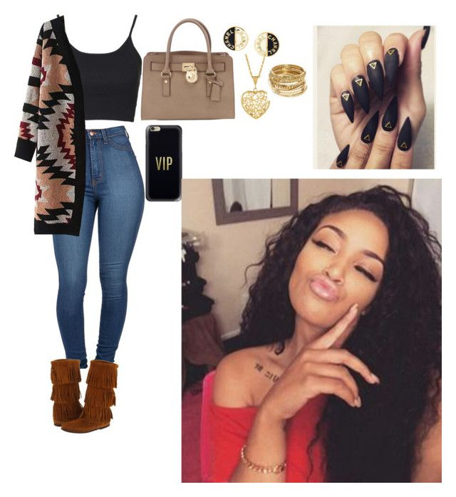 """""""Untitled #226"""" by queen-ayanna on Polyvore featuring Minnetonka, Topshop, MICHAEL Michael Kors, Casetify, Chanel and ABS by Allen Schwartz"""