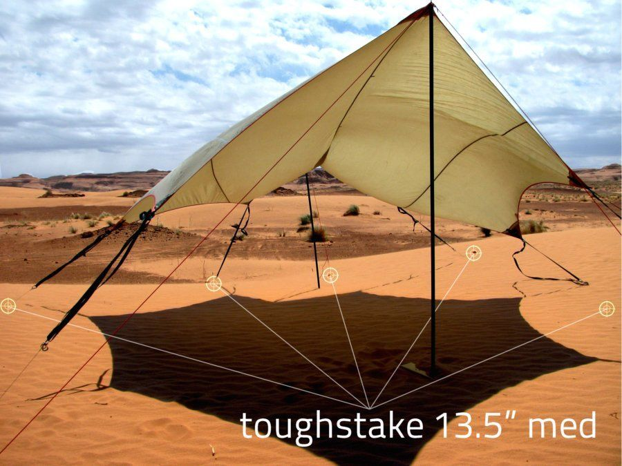 Delivering the holding power of standard tent stakes our ToughStake snow and sand tent stakes come in two sizes including one that is light enough for ... & toughstake - MSR outfitter wing 4 med sand stakes | toughstake ...