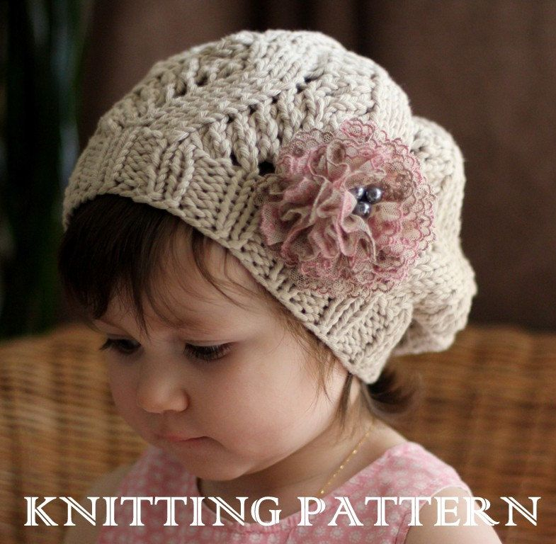 AMOUR Slouchy Hat Kniting Pattern (Toddler, Child, Adult sizes ...