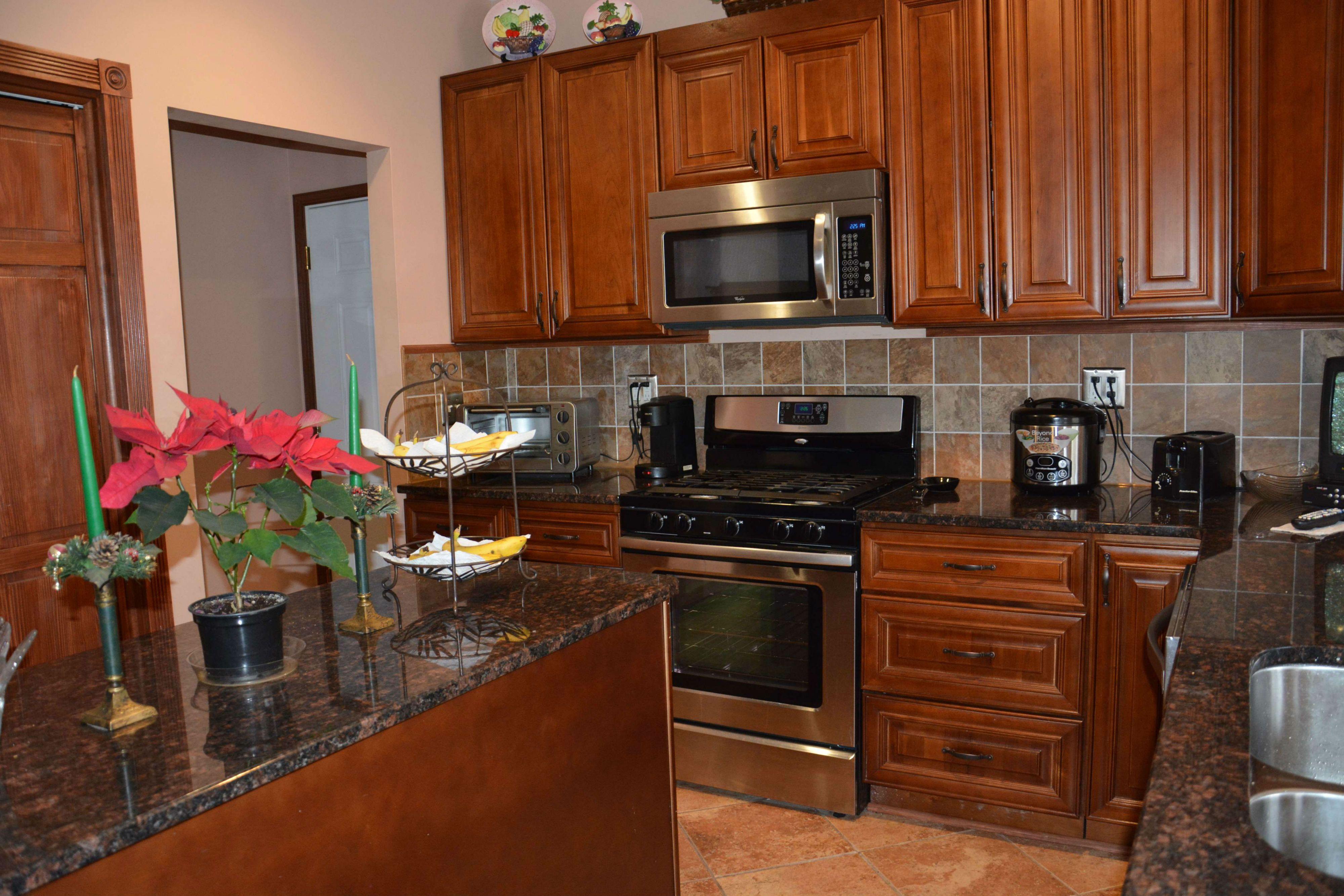 A view of the kitchen at 42 Branford Circle, Tinton Falls.