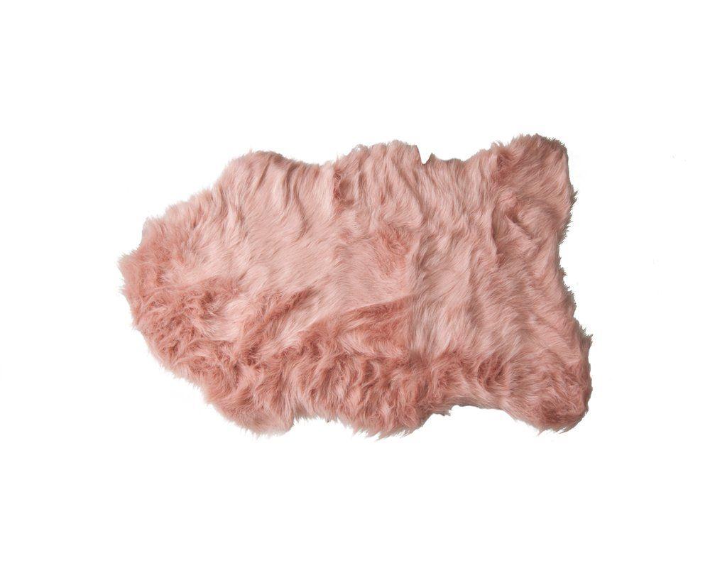 Shayne Faux Sheepskin Dusty Rose Area Rug Teppich Rosa Schaffell Und Weisses Fell