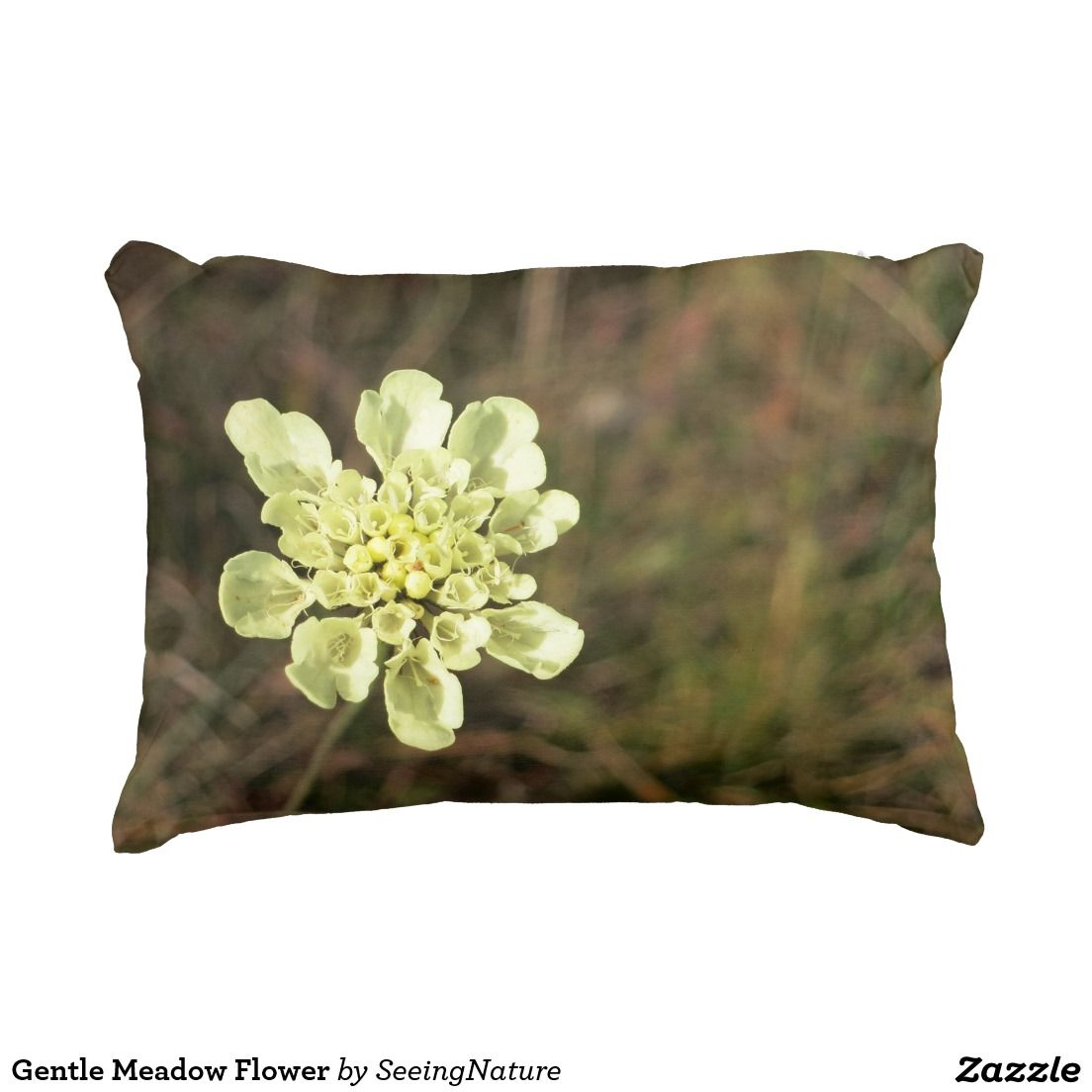 Gentle Meadow Flower Accent Pillow