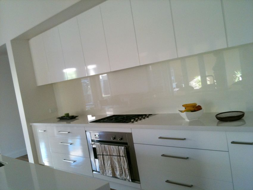 White Kitchen No Handles a friend's kitchen. we want it to be all white like this, with the