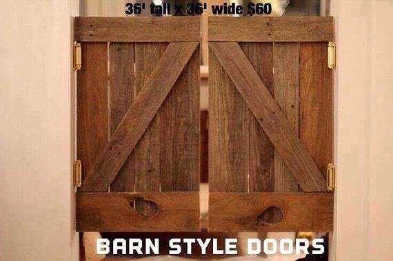 This listing is for a set of two (2) reclaimed/pallet doors perfect for any entry into any room in your house -- also perfect for indoor or outdoor ... & Rustic Reclaimed/Pallet Wood Saloon Doors | Outdoor shutters Pallet ...