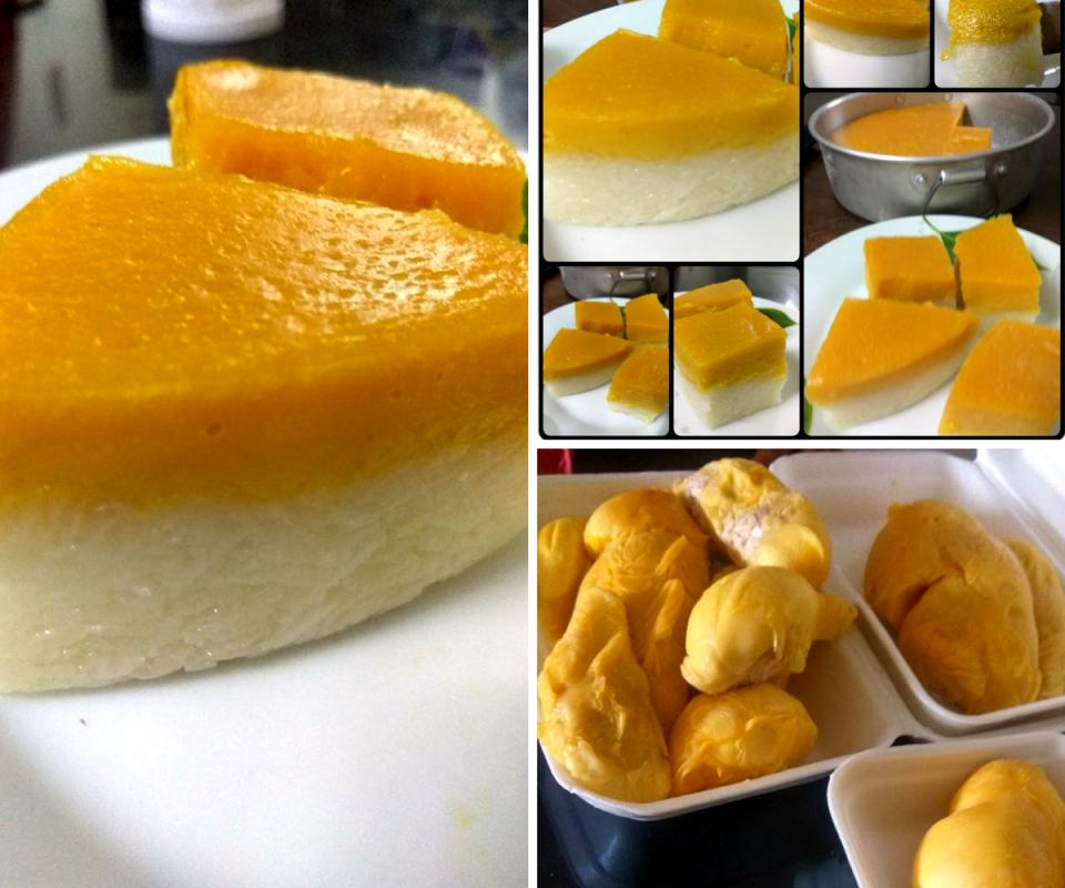 Kuih Seri Muka Durian Mudah Dan Tidak Renyah Memang Sedap Durian Food Mani