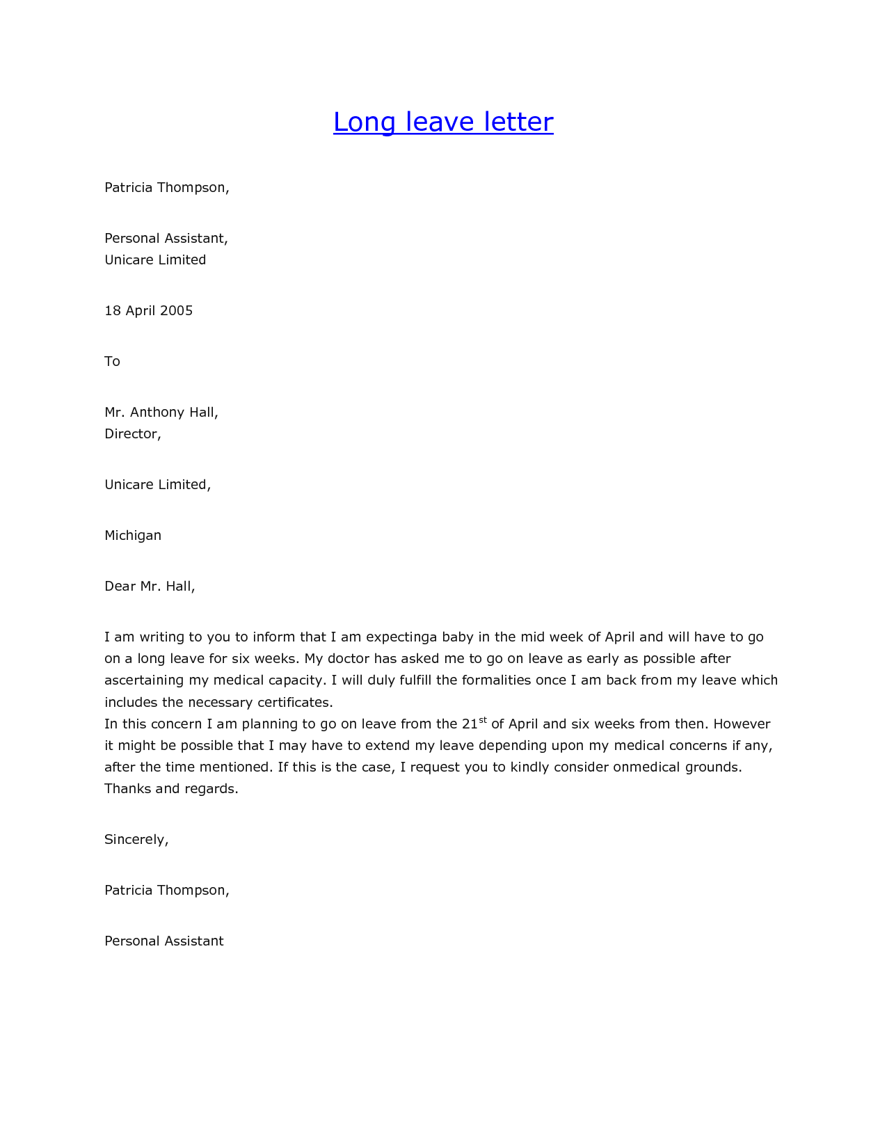 Vacation Approval Letter Image Collections Download Cv