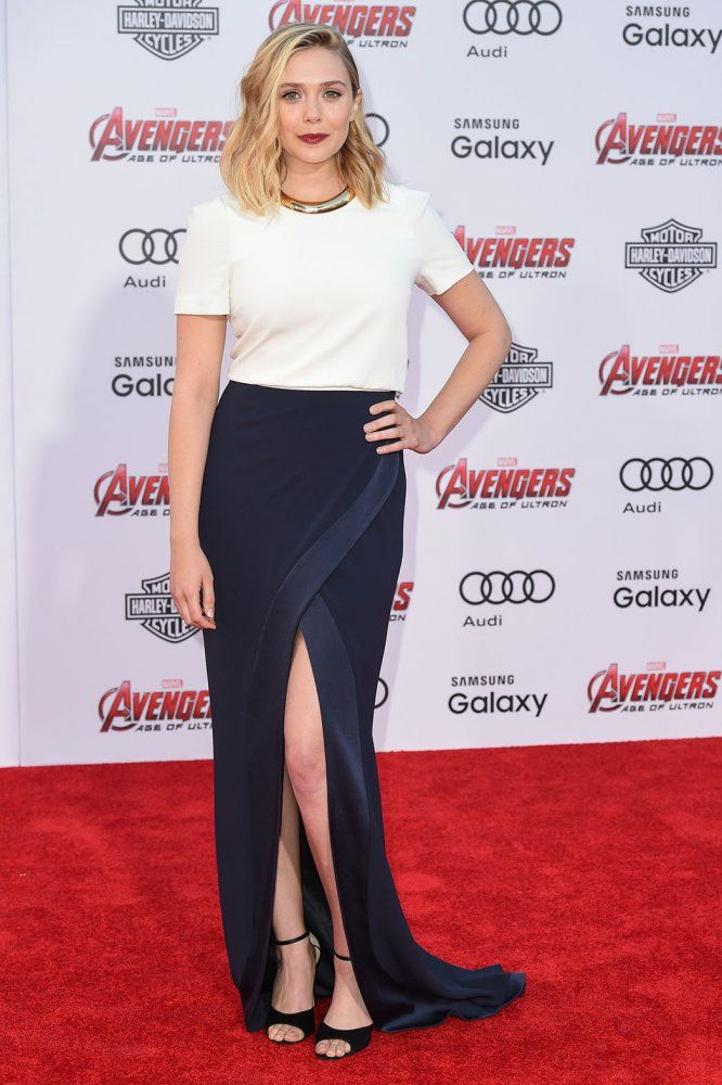 Elizabeth Olsen at the L.A. premiere of 'Avengers: Age of Ultron'
