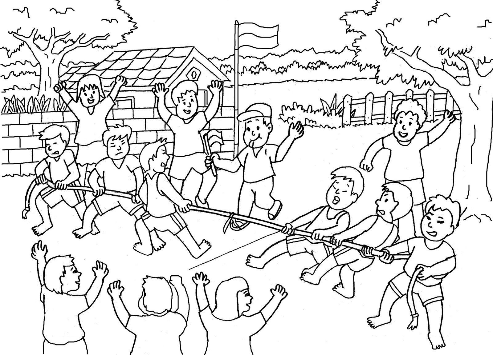 gambar untuk lomba mewarnai anak paud tema kemerdekaan