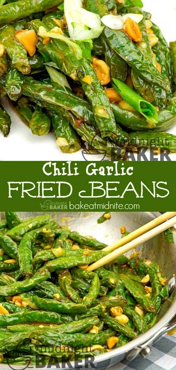 Garlic Dry Fried Beans These Asian dry fried green beans can be a complete meatless vegan meal!Thes