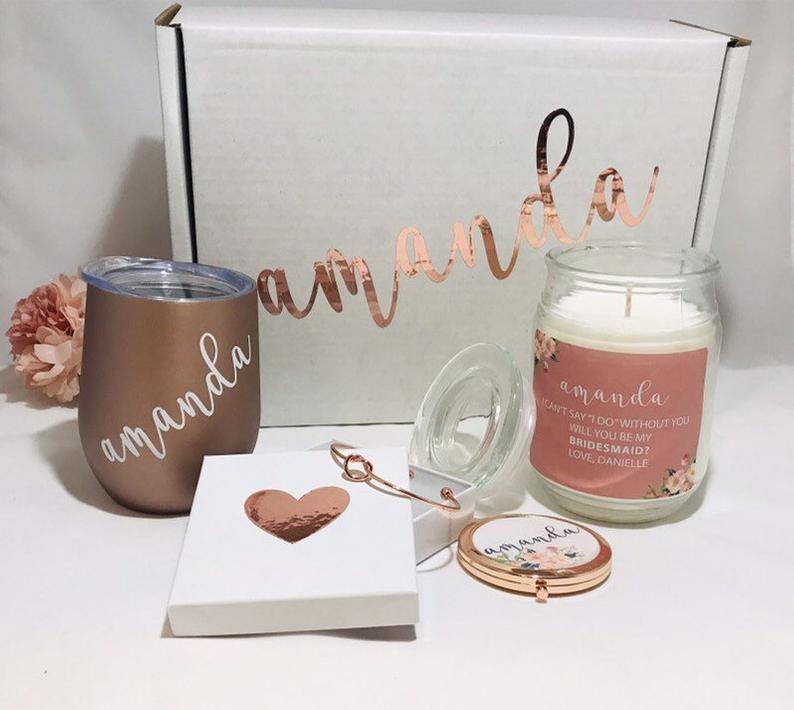 Bridesmaid proposal box bridesmaid gift box will you be my