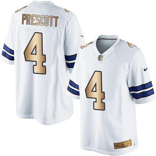 863a5b4e9 ... hot nike dallas cowboys mens 4 dak prescott limited white gold road nfl  jersey jerseys sale