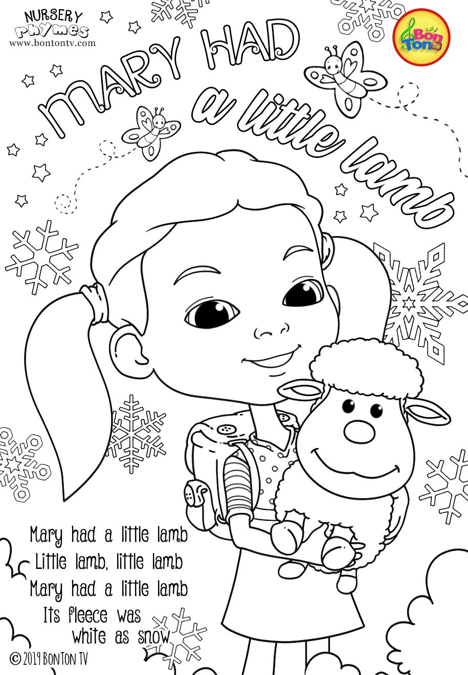 Nursery Rhymes Coloring Pages Free Preschool Printables For Kids Twinkle Twinkle Little Star Mary Had A Little Lamb Jack And Ji Aulas Educacao Pinturas [ 1321 x 915 Pixel ]