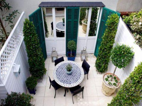 10 ideas para decorar un patio peque o terrazas pinterest backyard garden y backyard - Ideas para decorar un patio pequeno ...
