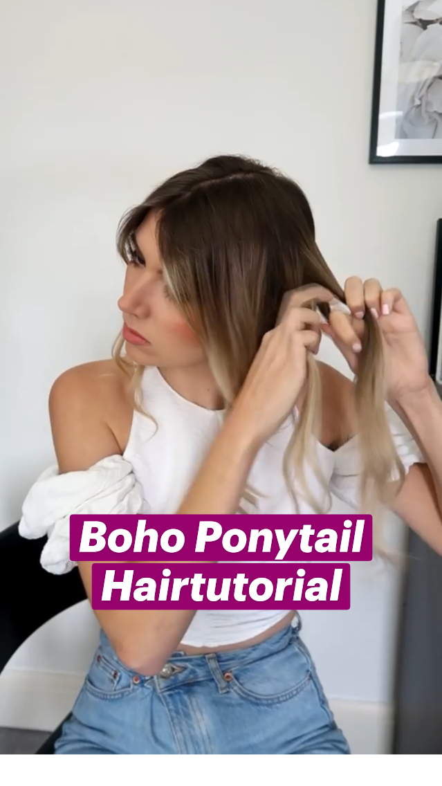 Boho Ponytail Hairtutorial