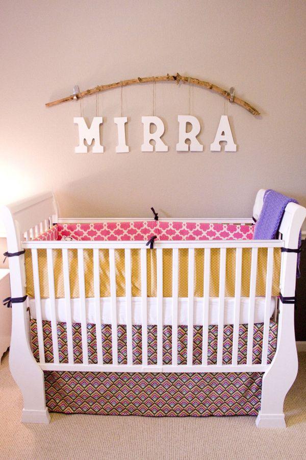 diy cute nursery for baby mirra homemydesign pinterest nursery