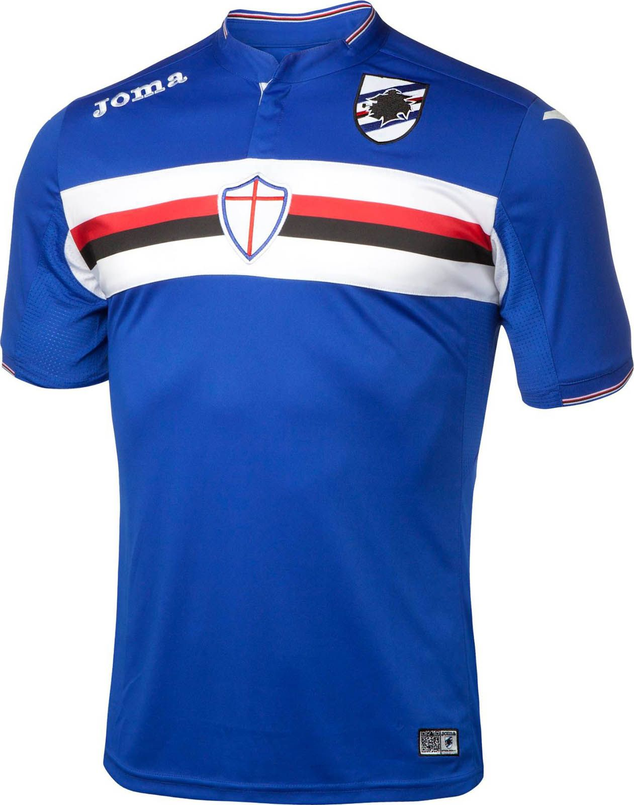 UC Sampdoria (Italy) - 2015/2016 Joma Home Shirt