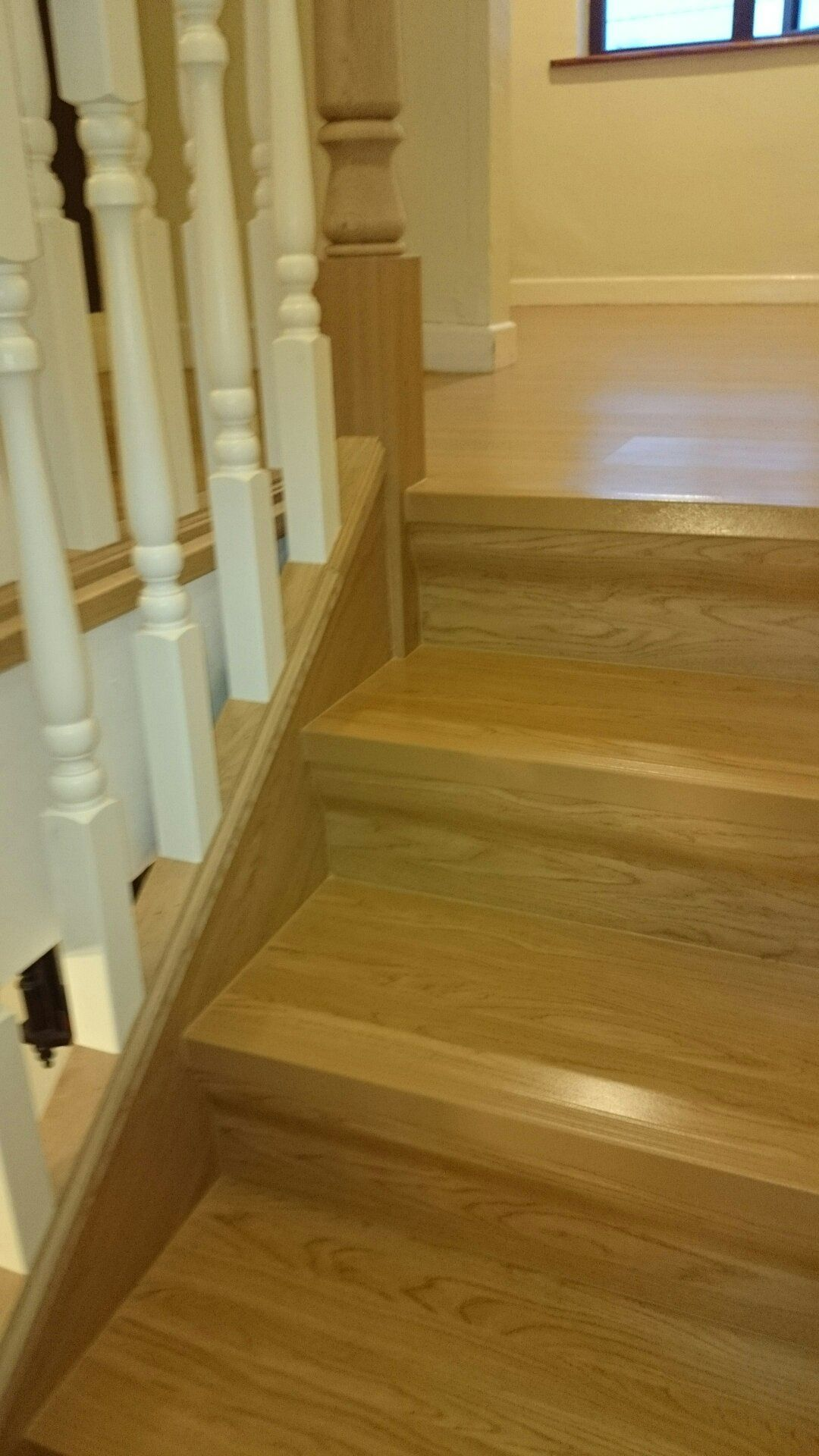 Staircase Renovation   Portas Oak Finish Stairs And Landing. Renovation  Also Included The Fitting Of Replacement Solid Oak Handrail And Newel Posts  And ...