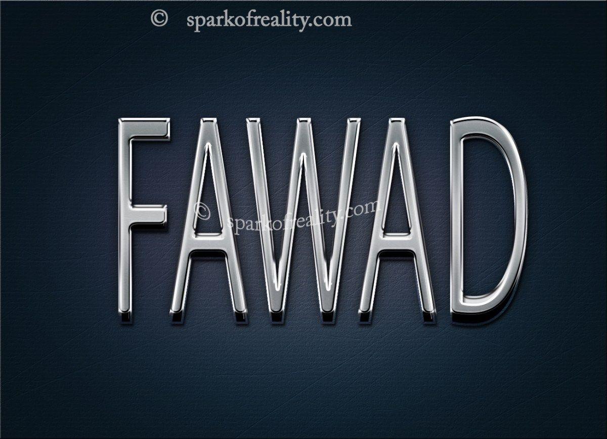 Fawad Hd Wallpapers 3d Text Art Wallpaper