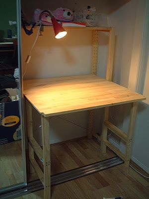 A Clever Ikea Ivar Hack That Incorporates A Fold Down Desktop Small Office Furniture Home Office Furniture Ikea Hackers