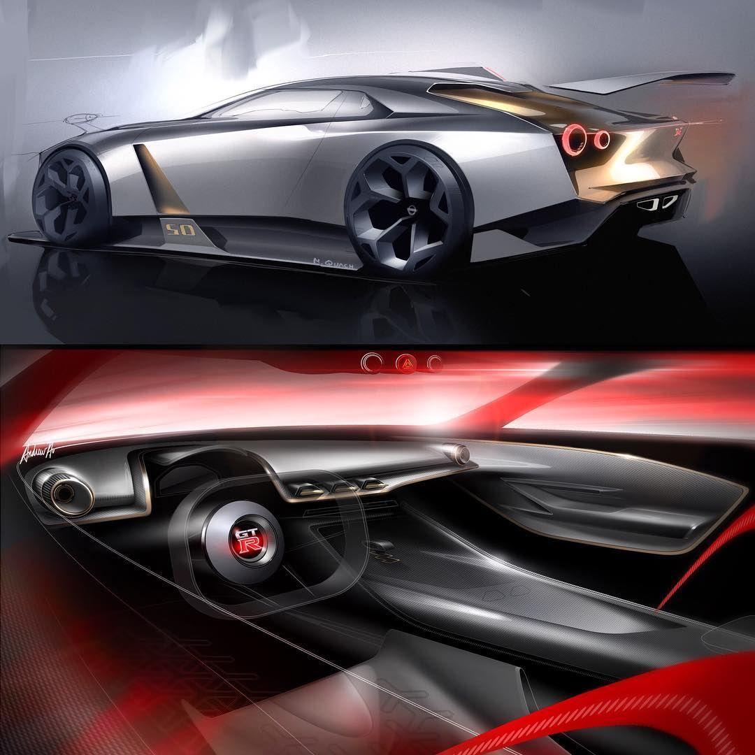Nissan Gtr50 Official Sketches Exterior Designe Nissan Concept