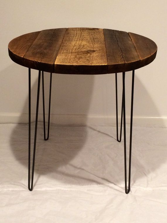 Bistro Table With Hairpin Legs Round Table By Swdesigns74