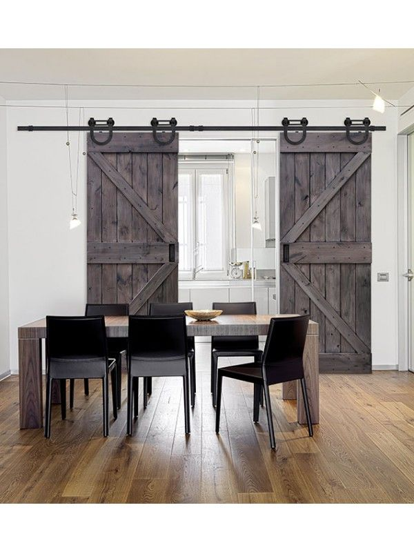 "Double Z Barn Door 8' 0"" Tall - Knotty Alder Double Door"