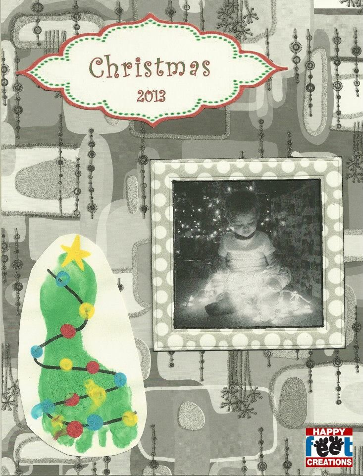 christmas art project for kids or toddlers feet hand art projects