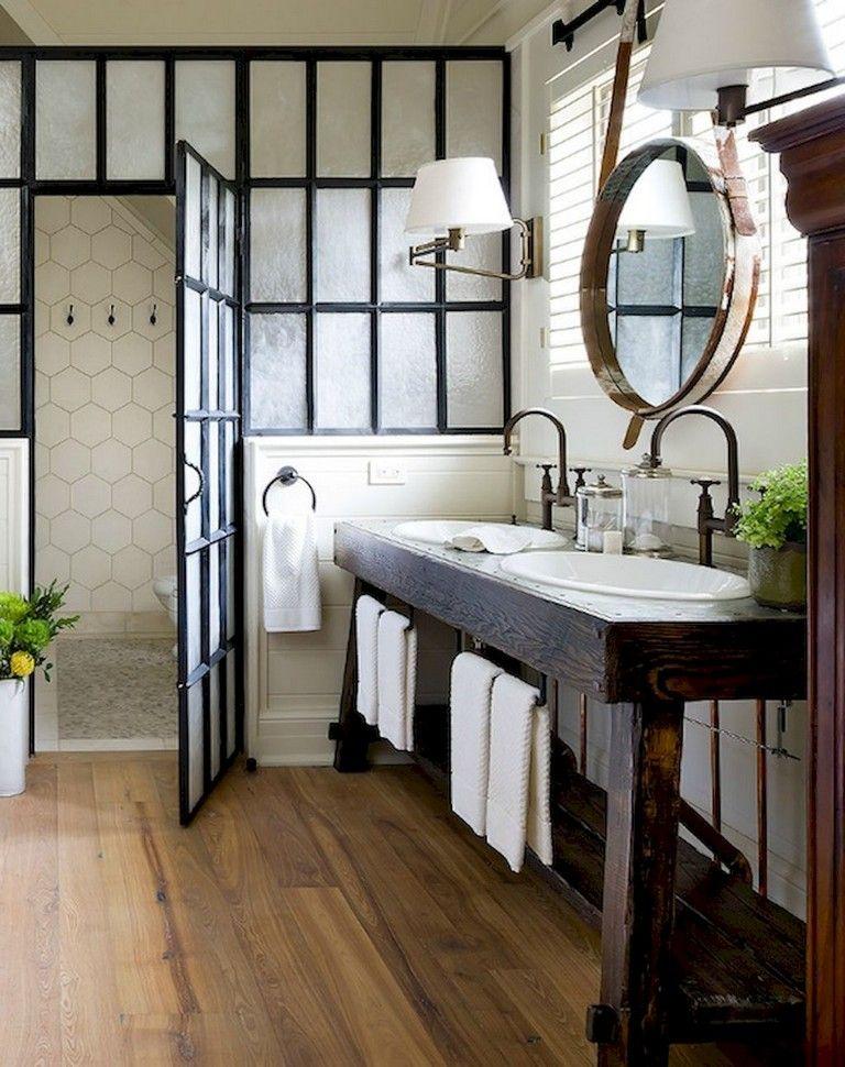58 Beautiful Master Bathroom Remodel Ideas Rustic Master Bathroom Modern Farmhouse Bathroom Bathroom Remodel Master