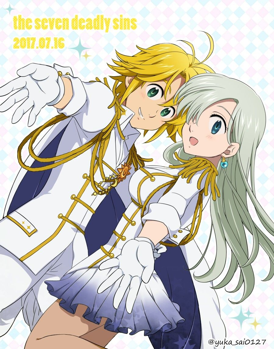 Dibujos Anime: Meliodas Y Elizabeth